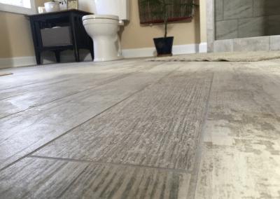 Beautiful Wood Style Bathroom Floor