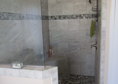 Custom Open Shower